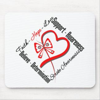Faith Hope Love Butterfly - Stroke Awareness Mousepad