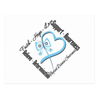 Faith Hope Love Butterfly - Thyroid Disease Postcard