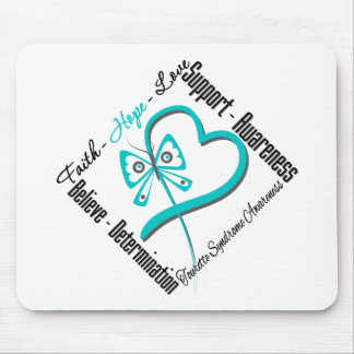 Faith Hope Love Butterfly Tourette Syndrome Mousepads