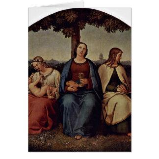 Faith Hope Love By Hess Heinrich Maria Von Card