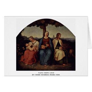 Faith Hope Love By Hess Heinrich Maria Von Greeting Card