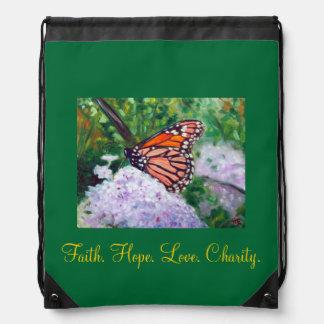 """""""Faith. Hope. Love. Charity.""""  Backpack"""