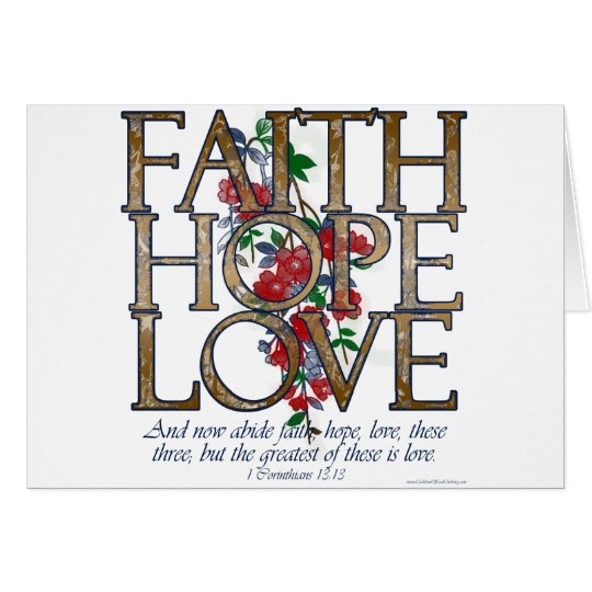 Faith Hope Love Christian Bible Verse Cards