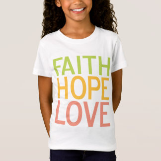 Faith Hope Love Christian Inspirational Kids Shirt