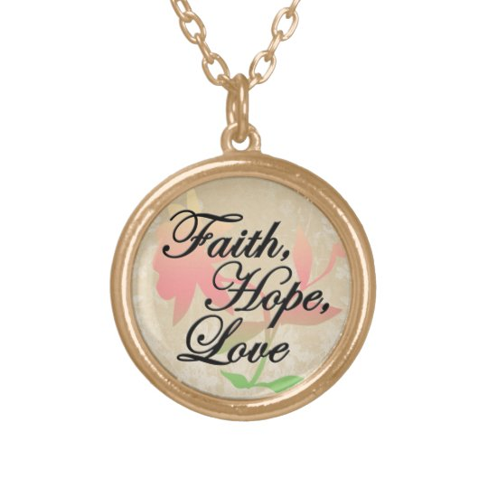 Faith, Hope, Love Christian Pretty Pendant Necklac
