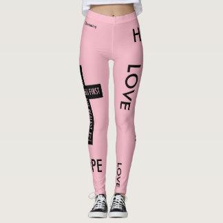 Faith Hope & Love Cross Leggings Workout Gear