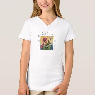 Faith Hope Love Dragonfly Art Girl's Shirt