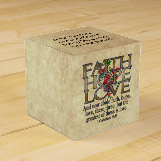 Faith Hope Love Elegant Bible Scripture Christian Favour Box