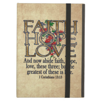 Faith Hope Love Elegant Bible Scripture Christian iPad Air Case