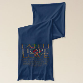 Faith Hope Love Elegant Bible Scripture Christian Scarf