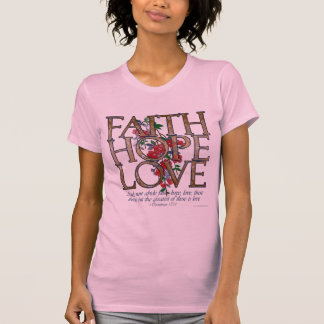 Faith Hope Love Floral Women's T-Shirt
