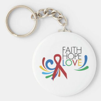 Faith, Hope, Love - Gay Lesbian Awareness Key Chains