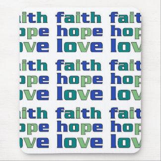 Faith Hope Love Greens Mousepads