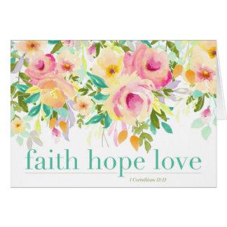 Faith Hope Love | Greeting Card