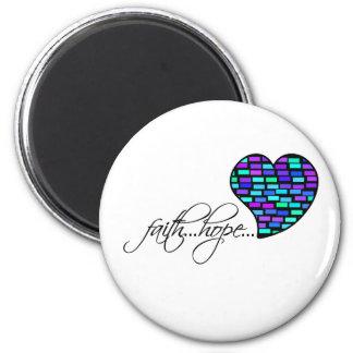 Faith Hope Love Heart 1 Corinthians 13:13 Fridge Magnets