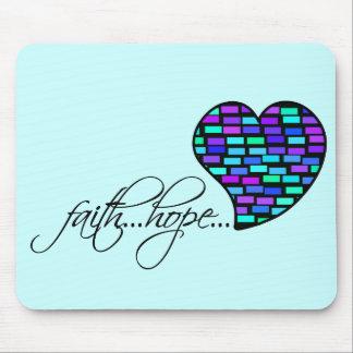 Faith Hope Love Heart 1 Corinthians 13:13 Mouse Pads