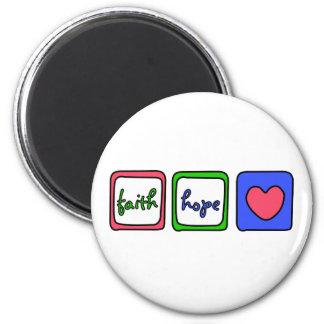 Faith Hope Love Hearts 1 Corinthians 13 13 Refrigerator Magnets