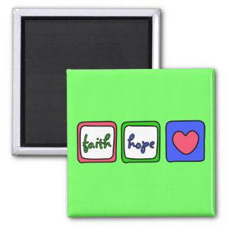 Faith Hope Love Hearts 1 Corinthians 13 13 Magnets