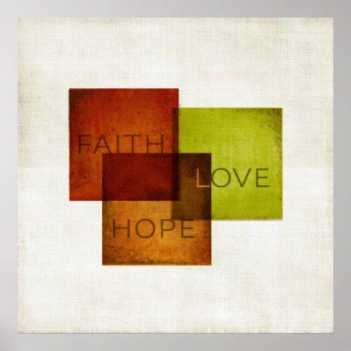 Faith, Hope, Love I Poster