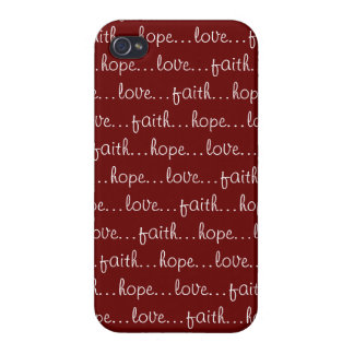Faith...Hope...Love... Cover For iPhone 4