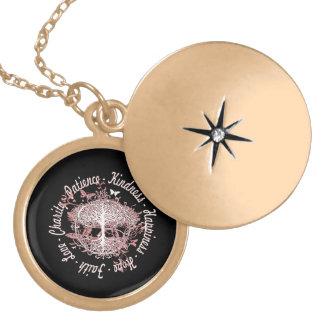Faith, Hope, Love, Kindness Locket Necklace