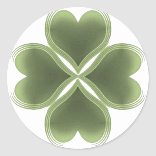 Faith, Hope, Love, Luck Classic Round Sticker