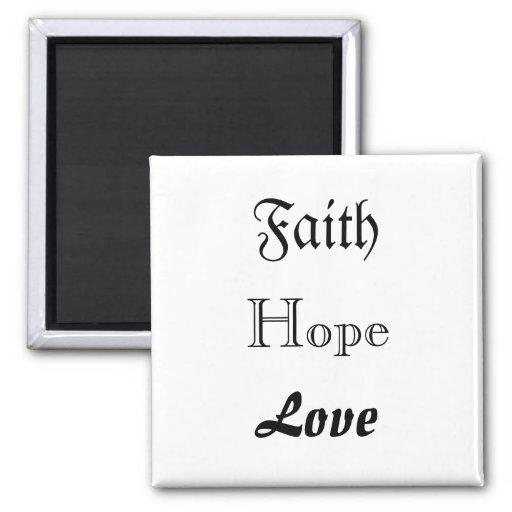 """""""Faith Hope Love"""" magnet"""
