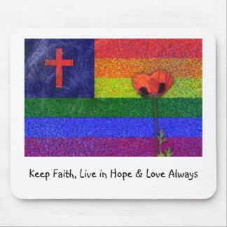 FAITH HOPE & LOVE MOUSE PADS
