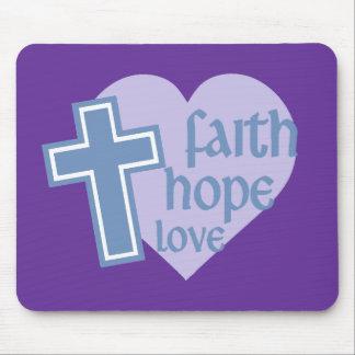 Faith Hope Love Mouse Pad