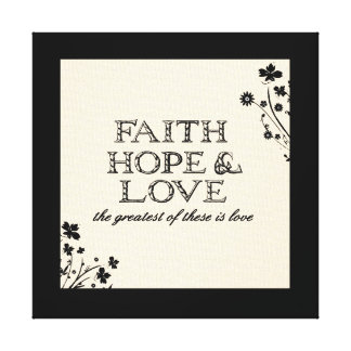 Faith, Hope & Love Parchment Canvas Print