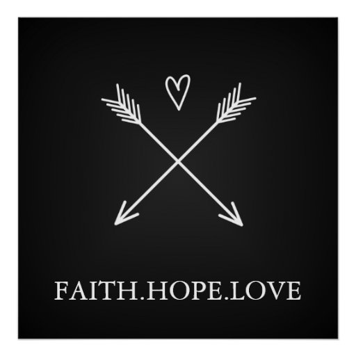 Faith, Hope Love Poster