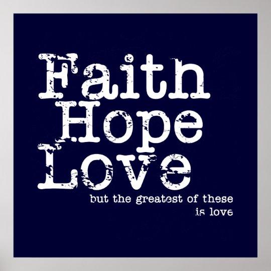 Faith, Hope, Love Poster