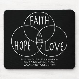 Faith Hope Love Rat Mat Mouse Pad