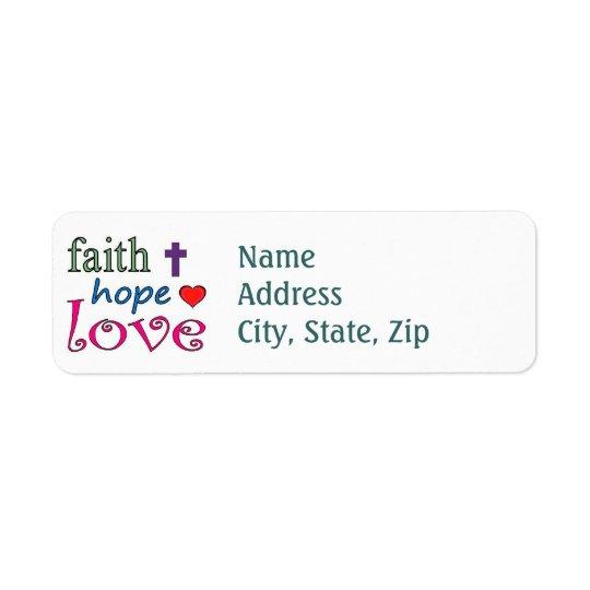 Faith Hope Love Return Address Label
