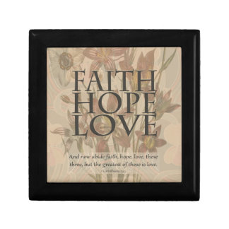 Faith,Hope,Love Small Square Gift Box