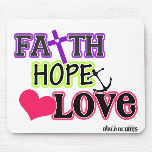 Faith Hope Love (symbols) Mouse Mat | Zazzle