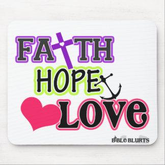 Faith Hope Love (symbols) Mouse Pad
