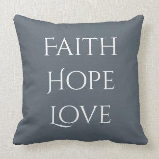 Faith*Hope*Love Throw Pillow
