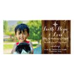 Faith Hope Love Vintage Christian Christmas Picture Card
