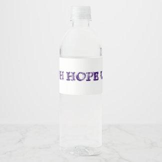 Faith Hope Love Water Bottle Label