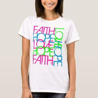Faith Hope Love, Women's Vibrant Color T-Shirt