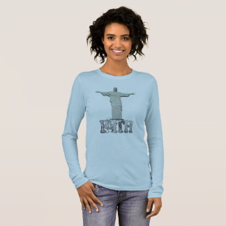 Faith in Christ womens long sleeve shirt. Long Sleeve T-Shirt