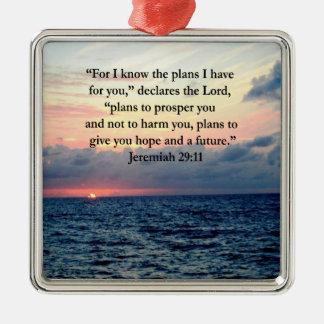 FAITH IN JEREMIAH 29:11 SUNRISE VERSE CHRISTMAS ORNAMENT