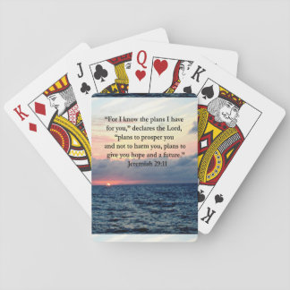 FAITH IN JEREMIAH 29:11 SUNRISE VERSE PLAYING CARDS