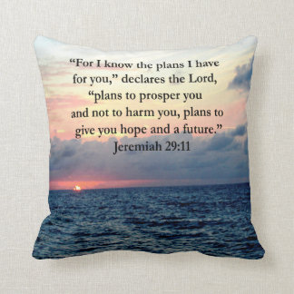 FAITH IN JEREMIAH 29:11 SUNRISE VERSE THROW PILLOW