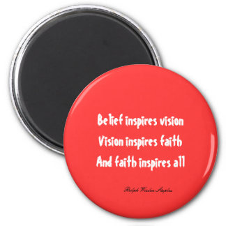 Faith in yourself 6 cm round magnet