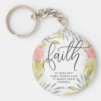 Faith Inspirational Gift Key Ring