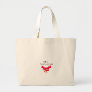 Faith is Heaven's Currency Banner Canvas Bag