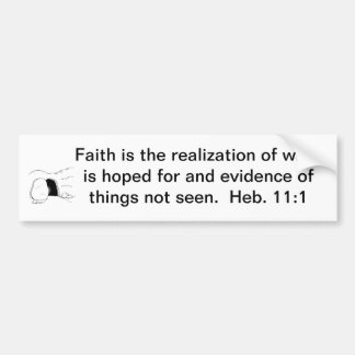 Faith Is....(with picture) Bumper Sticker