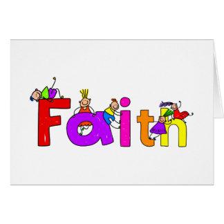 Faith Kids Greeting Card